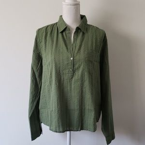 New Women's J Crew Pullover Button Shirt